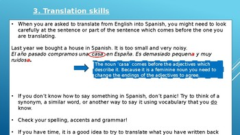 Translation skills English-Spanish