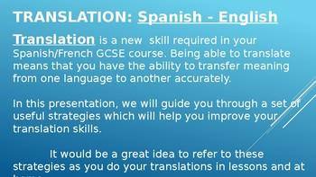 Translation techniques: Spanish to English