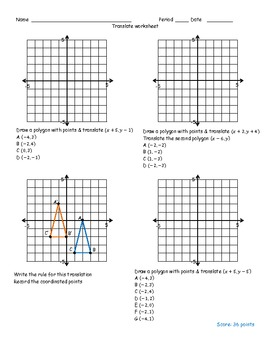 translation worksheet by math monkey teachers pay teachers. Black Bedroom Furniture Sets. Home Design Ideas