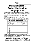 Translational & Projectile Motion Engage Lab