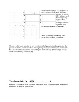 Translations - Guided Notes