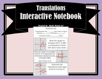 Translations Interactive Notebook Page