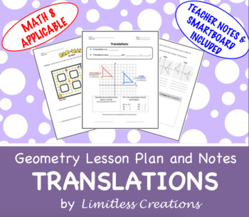 Translations Lesson with Smart Board and Teacher Notes