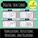 Translations, Reflections, Rotations, Dilations Digital Task Cards Google Slides