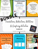 Bundle: Translations, Reflections, Rotations, and Graphing Activities Gr. 6-8