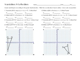 Translations & Reflections in a Coordinate Plane