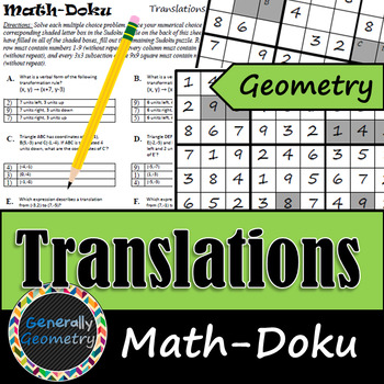 Translations (Slides) Math-Doku; Geometry, Sudoku, Transformations