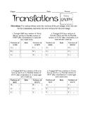 Translations Using Algebra Worksheet