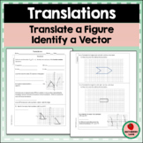 Translations Worksheet Vectors Coordinate Plane Function Notation Geometry