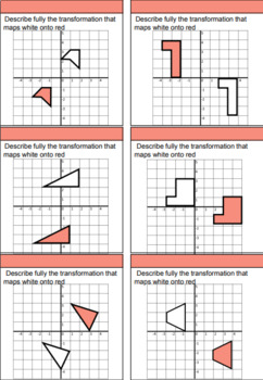 Transformations - Translations differentiated worksheets