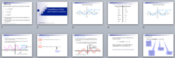 Translations of Sine and Cosine Functions - PowerPoint, Notes, & Examples