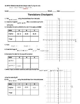 Translations on a Coordinate Grid