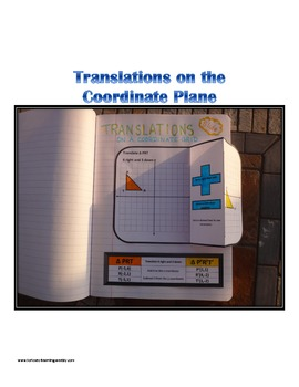 Translations on a Coordinate Plane for Interactive Notebook