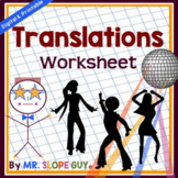 Translations on the Coordinate Plane (Transformation Worksheet)