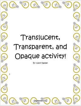 Translucent, Transparent, Opaque Activity