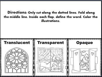 Translucent, Transparent, Opaque Foldable