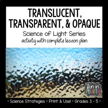Translucent, Transparent, Opaque Interactive Notebook Lesson