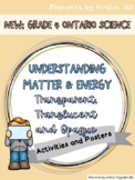 Translucent, Transparent and Opaque Posters and Activities: Grade 4 Ontario