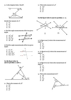 Transormations and Angle Relationships Unit Test