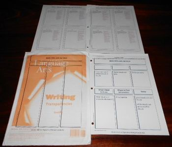Writing Lessons GRADE 1 Transparencies by McGraw-Hill Language Arts