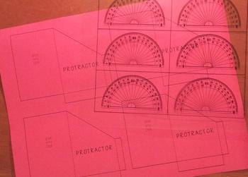 Transparency Protractors & INB Pockets