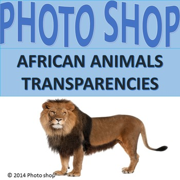Transparency: photograph of African animals