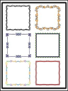 Transparent Accent Borders 2 Clipart