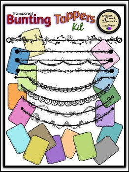 Transparent Bunting Toppers Kit Clipart