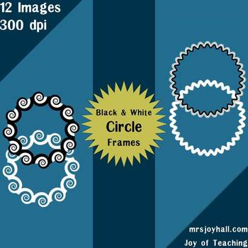 Transparent Circle Frames for Personal & Commercial Use