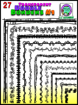 Transparent Doodle Borders #1 (Embellish Yourself Artworks)