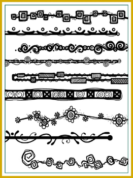 Transparent Doodle Page Headers/Dividers