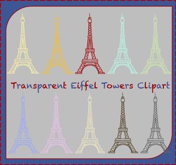 Transparent Eiffel Tower Clipart / Paris Clipart / Travel Clipart
