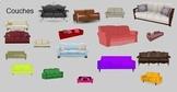 Transparent Objects for Bitmoji Classroom/Google Slides