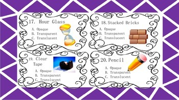 Transparent, Opaque, Transcluent