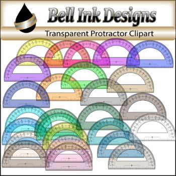 Transparent Protractor Clipart