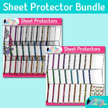 Transparent Sheet Protector Clip Art Bundle {Glitter Meets Glue}