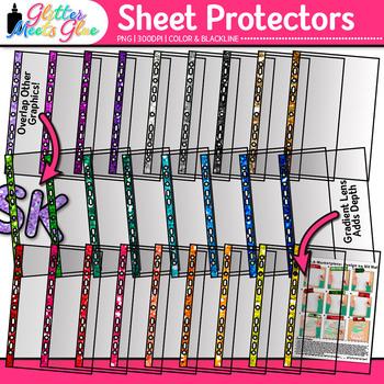 Transparent Sheet Protector Clip Art: School Graphics {Glitter Meets Glue}