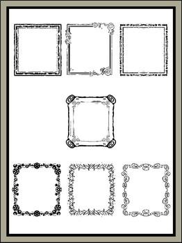 Transparent Square Borders Clipart