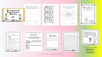 Transparent, Translucent, Opaque Activity Sheets
