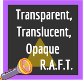 Transparent, Translucent, Opaque R.A.F.T. Writing Project