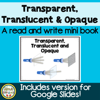 Transparent, Translucent and Opaque Read and Write Mini Book