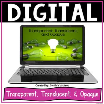 Transparent, Translucent, and Opaque - Digital Resource fo