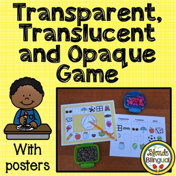 Transparent, Translucent and Opaque Game and Posters