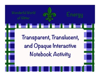 Transparent, Translucent, and Opaque Interactive Notebook Activity