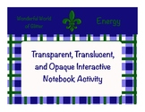 Transparent, Translucent, and Opaque Interactive Notebook
