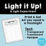 Transparent, Translucent, or Opaque Flashlight Experiment