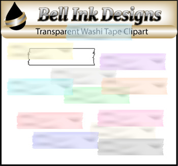 Transparent Washi Tape Clipart