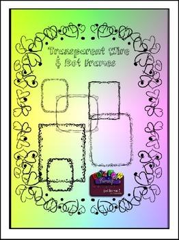 Transparent Wire & Dot Frames Clipart (Embellish Yourself Artworks)