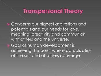 Transpersonal Theory Powerpoint Presentation