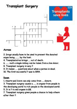 Transplant Surgery Crossword